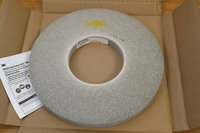 "3M Scotch-Brite 12"" x 1"" x 5"" EX2 Deburring Wheel 8S Hard Fine Silicon Carbide"