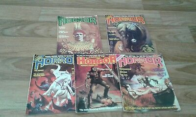 Bundle of HOUSE OF HORROR and castle of horror  magazines,bronze age classic