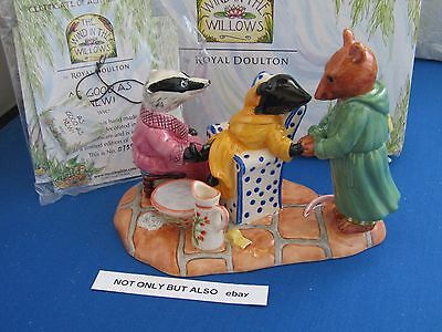 Offer  Royal Doulton  As Good As New Badger Ratty Mole Wind In The Willows Ww7