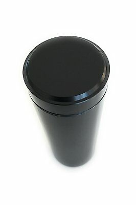 Herb Container Airtight Smell Proof Aluminum Stash Jar Weed Bud Storage Black