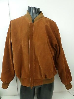 Vintage Yves Sain Lauren Mens Jacket Size XL Brown Suede Pervin Made in Italy