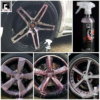 Chrome Diamond Cut Alloy Wheel Cleaner Iron Fallout Remover PH 7 Neutral Red D