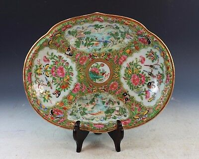 Antique Chinese Rose Medallion Porcelain Plate With Marked