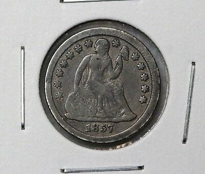 1857-O 10C Liberty Seated Dime FINE NICE ORIGINAL EXAMPLE MUST SEE!!