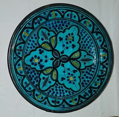 Middle Eastern Moroccan Safi Marked Pottery Dish
