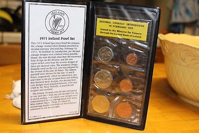 1971 Ireland Proof Set in folder - first year decimal currency