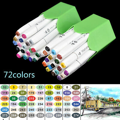 24 36 72Colors Dual Headed New Artist Sketch Copic Markers Pen Kit For Animation