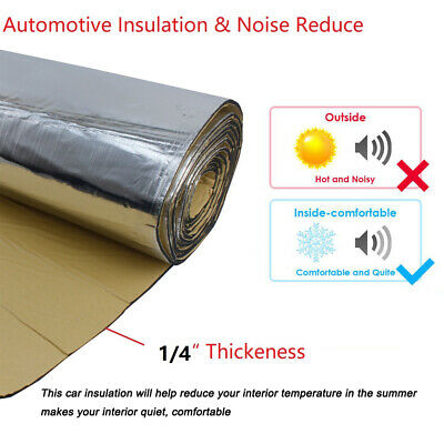 "Heat Shield Sound Deadener Proofing Noise Car Insulation Mat 230MIL 22"" x39"""