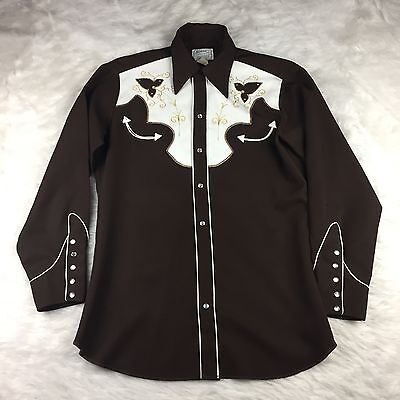 Vintage Men's H Bar C Long Tail Western Ranchwear Button Up Shirt Rockabilly
