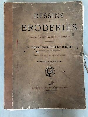 Rare French Book Dessins De Broderies Fin Du XVIII Siecle Embroidery Designs