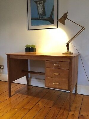 Mid Century Gordon Russell Of Broadway Vintage Writing Desk Table