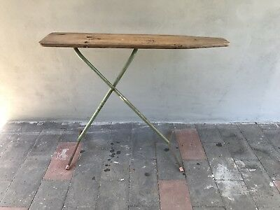 Vintage Ironing Board , Side Table Hall Stand