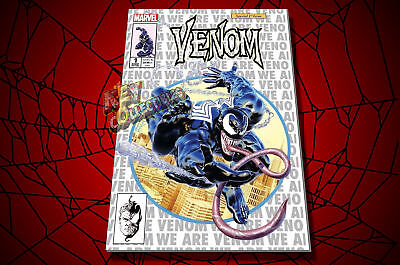 Marvel VENOM #1 Mike Mayhew KRS Comics Cover B WHITE/SILVER VARIANT