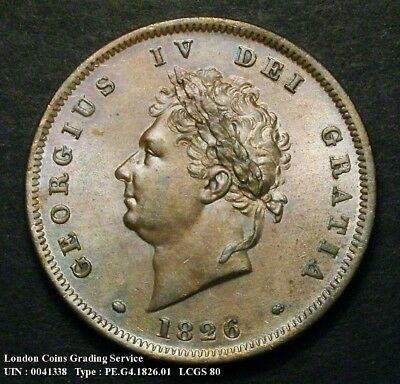Choice UNC 1826 Penny. Graded and encapsulated, CGS80.(MS64).
