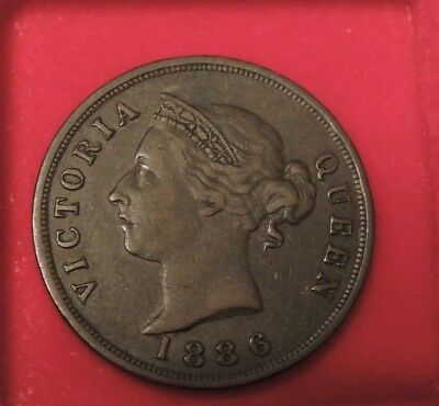 CYPRUS 1 one PIASTRE QUEEN VICTORIA 1886 IN EXF CONDITION VERY RARE