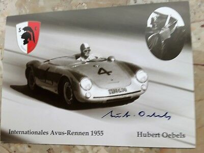 Hubert Oebels (+) Rallye/GT-u.Tourenwagensport 1951-1964 -Avus 1955 mit OU