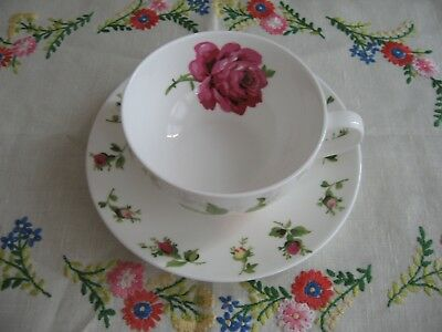 LAURA ASHLEY  BONE CHINA CUP and SAUCER PINK & RED ROSES