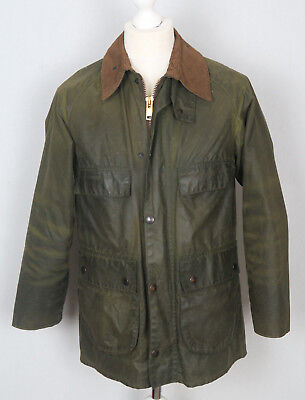 Barbour Vintage TWO ROYAL CREST Bedale 86cm/34inch Green Waxed Cotton Jacket S
