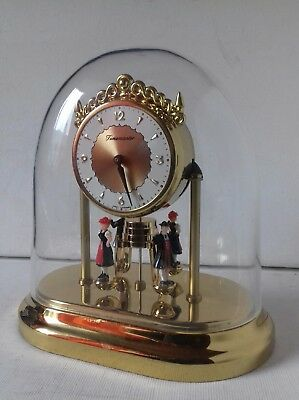 Vintage W. Germany Timemaster anniversary style? clock dancers plastic dome 6""