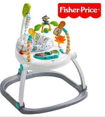 New Fisher-Price Colourful Carnival SpaceSaver Jumperoo Baby Boy Girl Child Safe