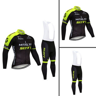 Cycling Team 2018 Pro Long Sleeve Jersey & (Bib) Pants Men's Bike Clothing Kit