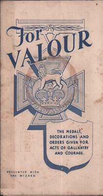 Wizard DC Thomson comic 1950s  Freebie For Valour Medals & Decorations Military