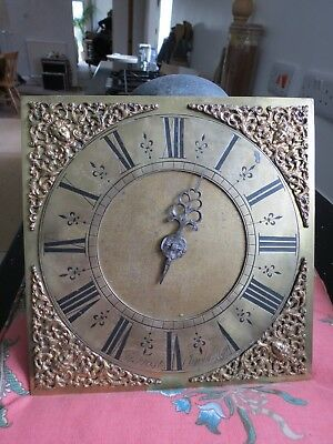 """Antique Longcase 10"""" Dial with Birdcage Movt. Jn Frost Chichester. Spares/Repair"""