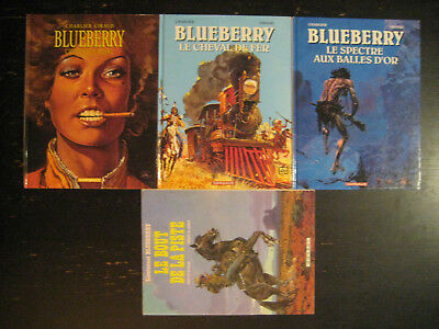 x4 Lot Lieutenant Blueberry Cheval de Fer BD Bande Dessinée Dargaud Charlier 22