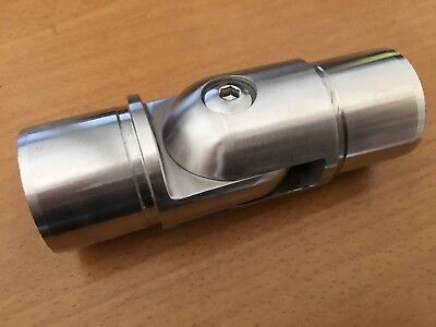 Stainless Steel 90º Adjustable Elbow for 42.4mm 2mm thick Tube / Handrail