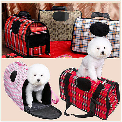 M Scotland Red Pet Dog Cat Puppy Portable Travel Carry Carrier Tote Cage Crate