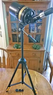 """Celestron C90 Telescope withTripod 1.25"""" Adapter and Various Lenses Exc ++++++++"""