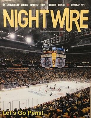 PITTSBURGH Penguins Let's Go Pens October 2017 NightWire Magazine Unsigned