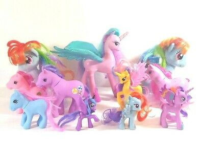 LOT of 11 My Little Pony Hasbro Horses Big Pony Flaping Wings Plushes Small Pony