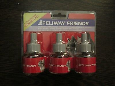 NEW Ceva / Comfort Zone Feliway Friends 48ml Refill 3 Pack Diffusers FREE SHIP!