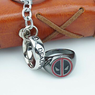 Marvel Deadpool Finger Ring Metal Fashion Men Rings US 8# Jewelry Cosplay Gift