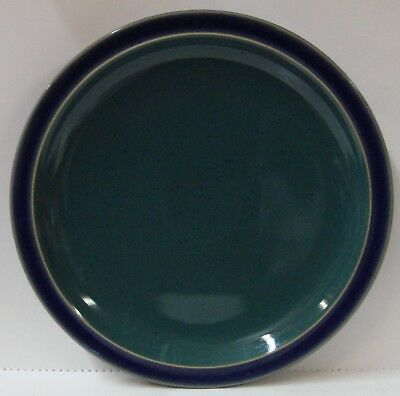 Denby HARLEQUIN Dinner Plate  GREEN ON BLUE More Items Available