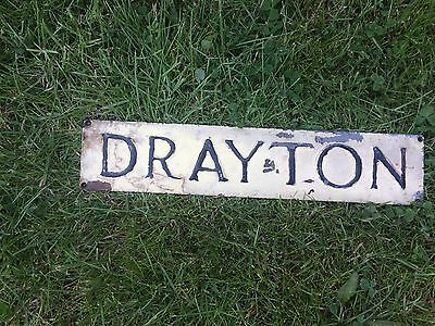 """Antique Cast Iron House Name Plaque The Name Is """"DRAYTON"""""""