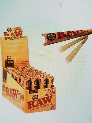 RAW Classic Pre Rolled Cone 1 1/4 1.25 - 3 PACKS - Roll Papers 6 Cone Per Pack