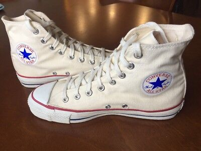 Vintage Converse Chuck Taylor Shoes Made in USA White 6.5 RARE