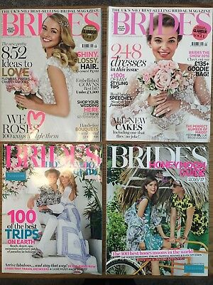 Two 'Brides' Wedding Magazines & two 'Honeymoon Guides' (Sept/Oct 2015 and 2016)