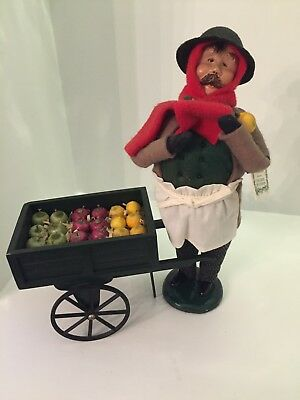 Byers Choice The Carolers The Cries of London Fruit Vendor man with cart 1999