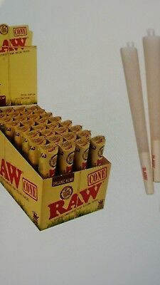 RAW Organic Cone King Size - 6 PACKS - Roll Papers 3 Cones Per Pack Hemp PreRoll