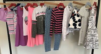 Girls Clothes Bundle Dresses Leggings T-Shirt Tops Party Skirt Playsuit Age 7-8