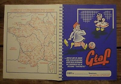 Ancien protège cahier publicitaire fromage à tartiner Graf  football
