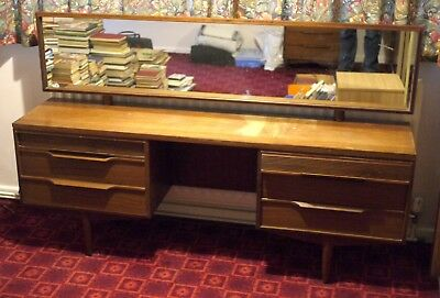 Retro / Vintage 1960's Teak Dressing Table and Stool - Good Condition