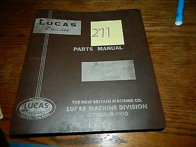 "Lucas 4B - 3302 4"" Parts Manual LOT #277"