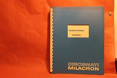 Cincinnati Acradrive Technical Manual 7-000-0334MA
