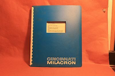 Cincinnati Supplement Service Manual Slide Drive Systems Milacron Acromatic  8-D