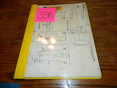 Golden State Machinery Original Operation & Maintenance Manual Lot # 338