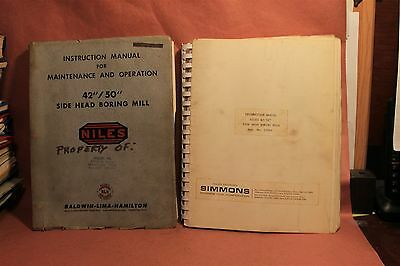 "Niles 42/50"" Side Head Boring Machine Operation & Maintenance Manual"